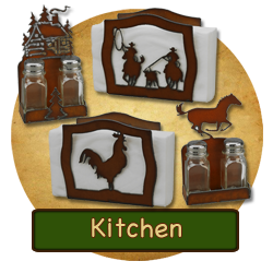 Rustic Western Metal Kitchen Decor